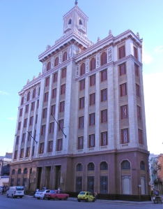 The Bacardi building in Old Havana, completed in 1940. At the time, it was the largest building in the city. It has been restored by the Office of the City Historian.